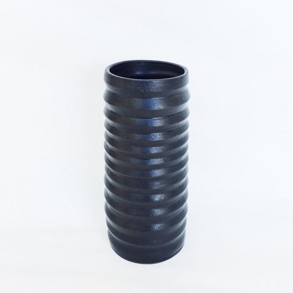 Ashley Hardy Medium Black Pleated Vase