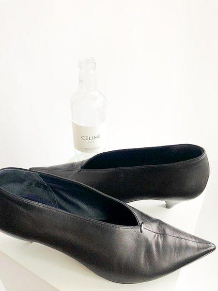 [Pre-loved] Celine Cone Heel Pumps - Black