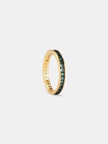 Satomi Kawakita satomi eternity ring - 18k yellow gold/alexandrite