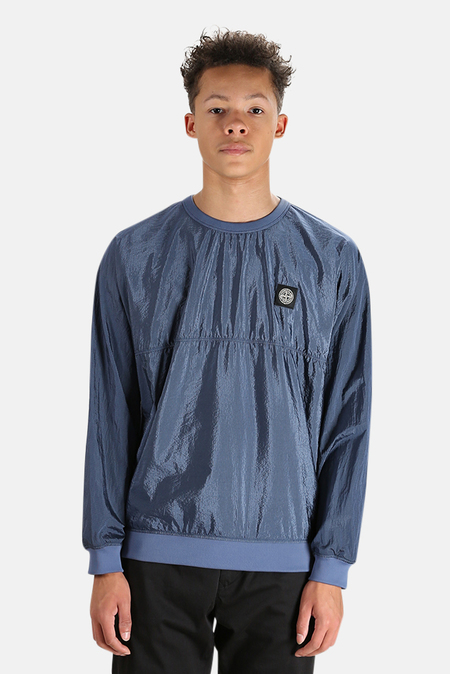 Stone Island Nylon Metal Crewneck Sweater - avio Blue