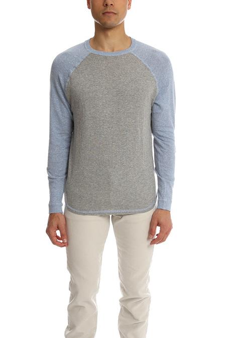 Blue&Cream Baseball Raglan Sweater - Ozone