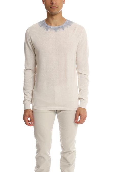 Blue&Cream Dip Dyed Crew Pure Sweater - Cloud