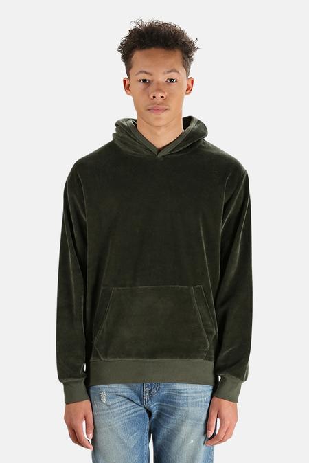 La Paz Matias Velour Hoodie Sweater - Green