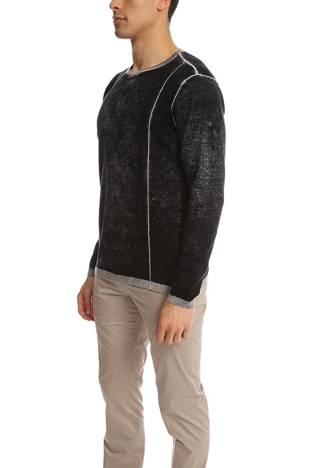 Blue&Cream Inked Crew Sweater - Black