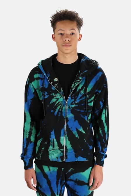 Cotton Citizen Bronx Zip Hoodie Sweater - Blue Green Prism