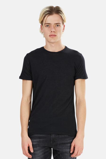 Crossley Rebel Cashmere Blend Crewneck Classic T-Shirt - Black