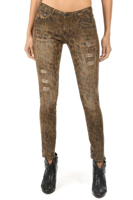R13 Kate Skinny Pants - Leopard