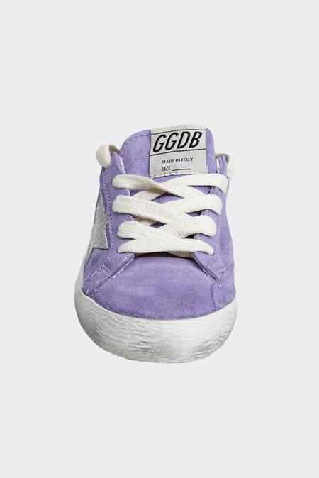 kids Golden Goose Superstar Sneaker Shoes - Lylium Suede/Silver Star
