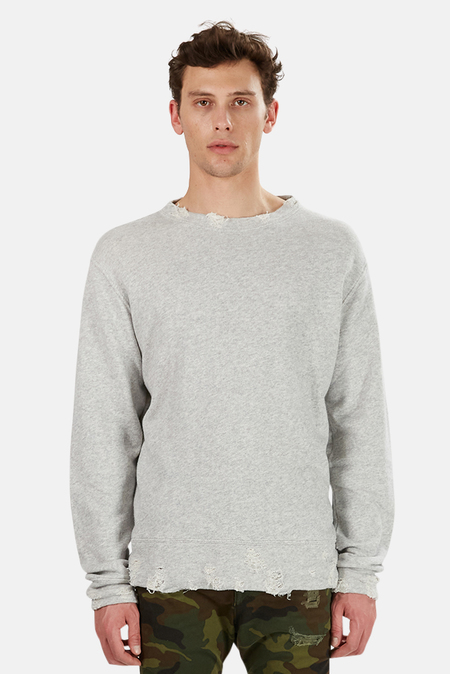 R13 Vintage Sweatshirt Sweater - Heather Grey