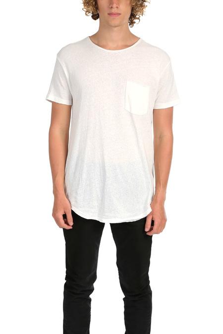 R13 Pocket T-Shirt - Ecru