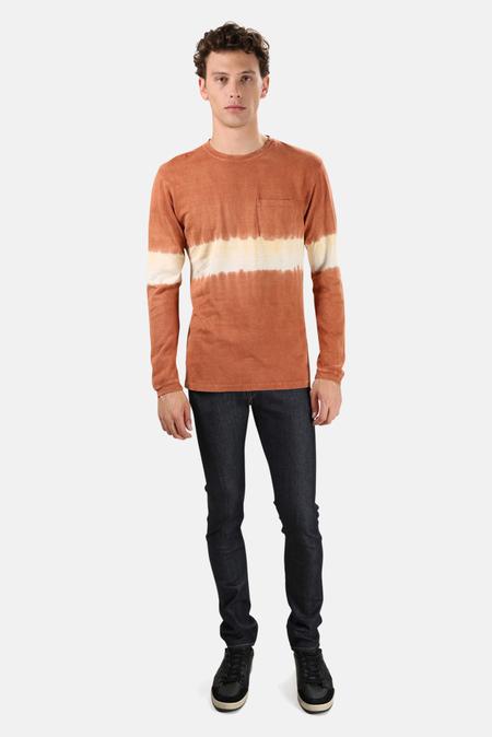 Jungmaven Baja Long Sleeve Classic T-Shirt - Sunset tie dye