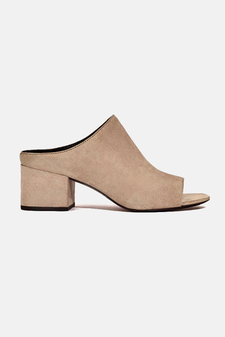 3.1 Phillip Lim Cube Open Toe Slip On Shoes - Fawn