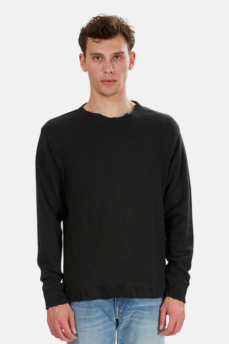 R13 Vintage Sweatshirt Sweater - Washed Black