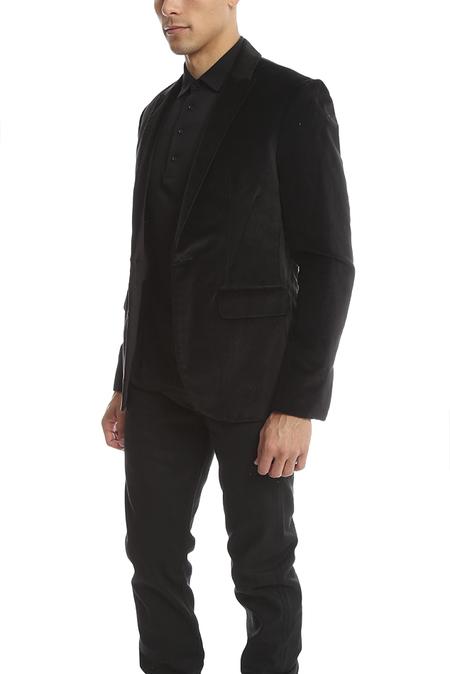 Shipley & Halmos Velvet Blazer - Black