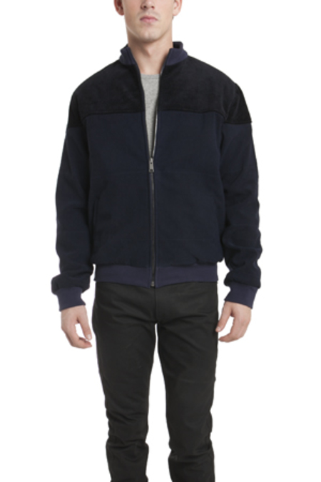 Lucio Castro Ismo Quilted Puffer Jacket - Navy