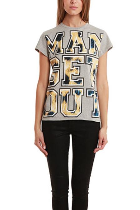 Être Cécile Man Get Out T-Shirt - Grey