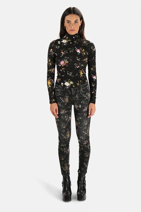 R13 Kate Skinny Jeans - Light Floral
