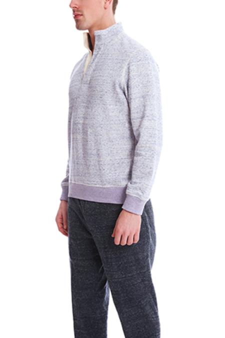 Blue&Cream Pop Collar Pullover Sweater - Lavender