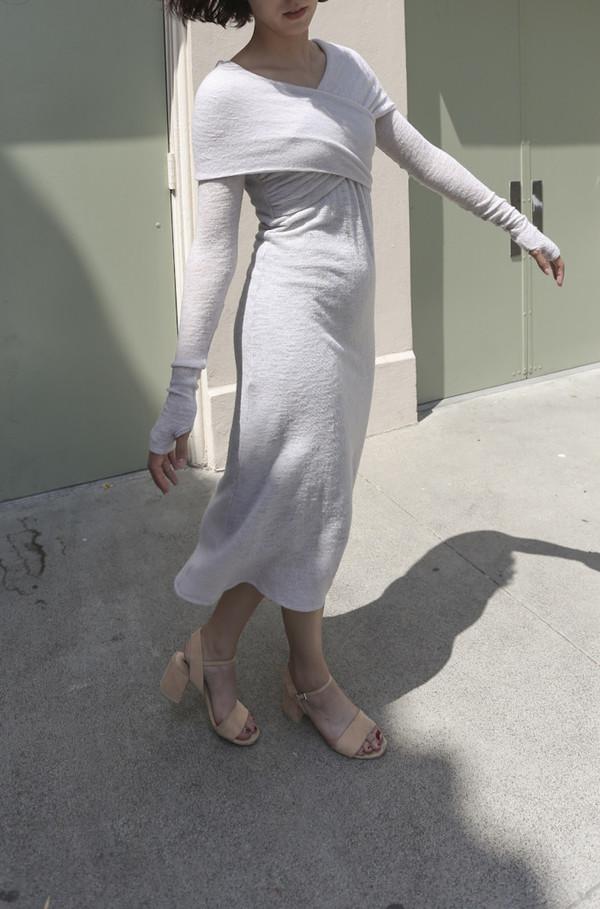SVILU Loja Wrap Dress in Lilac