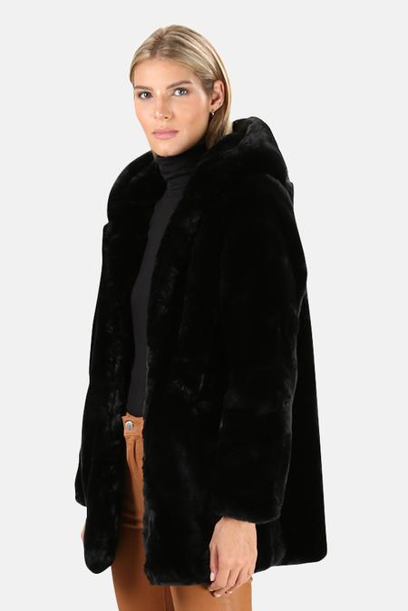 Apparis Marie Faux Fur Coat - Noir