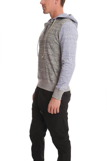 BCNY Blue&Cream 1/4 Zip Hoodie Sweater - tiger grey/lavender