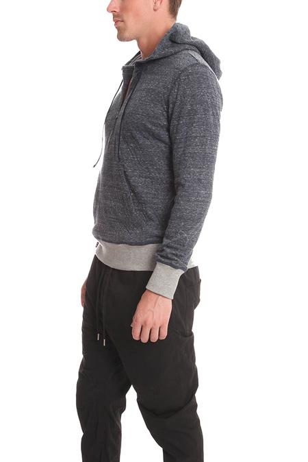 BCNY Blue&Cream 1/4 Zip Hoodie Sweater - Navy
