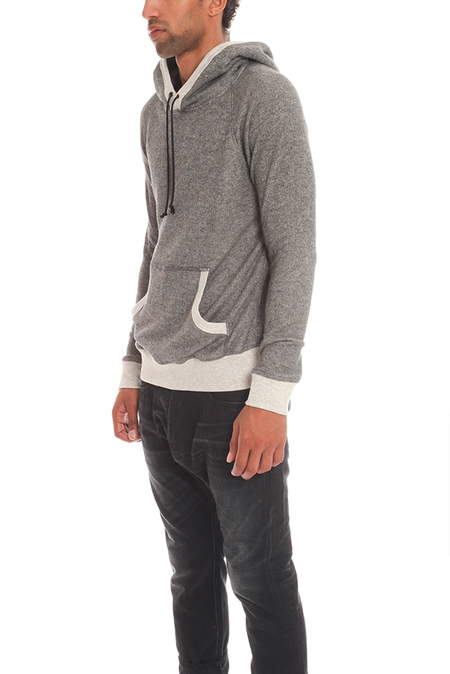 Blue&Cream Pullover Hoodie Sweater - Charcoal/ light Grey