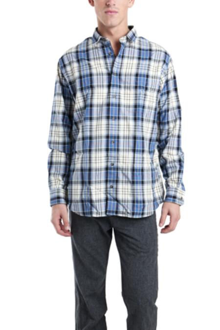 Blue&Cream Private Label Blue & Cream Flannel Shirt - Blue/Cream Flannel