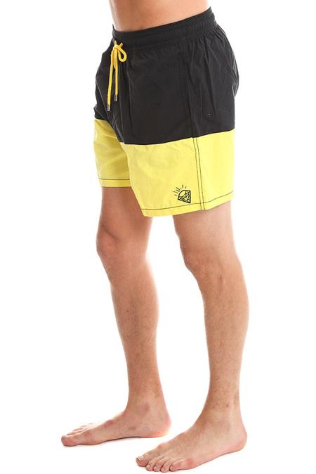 Ben Watts Shark Attack Swim Short - Black/Yellow