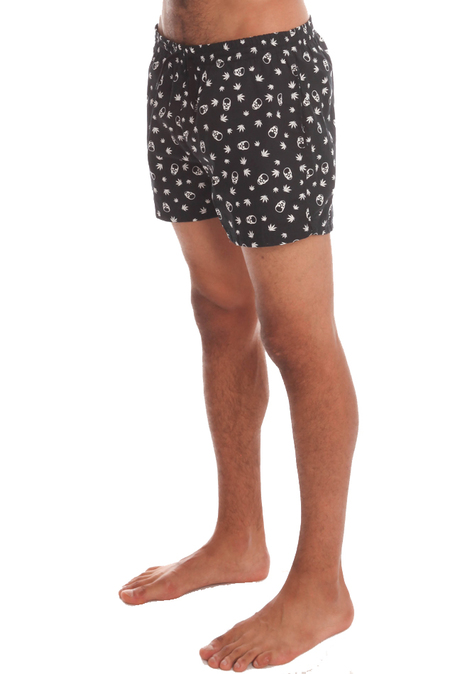 Lucien Pellat-Finet Swim Trunks Swimwear - Black