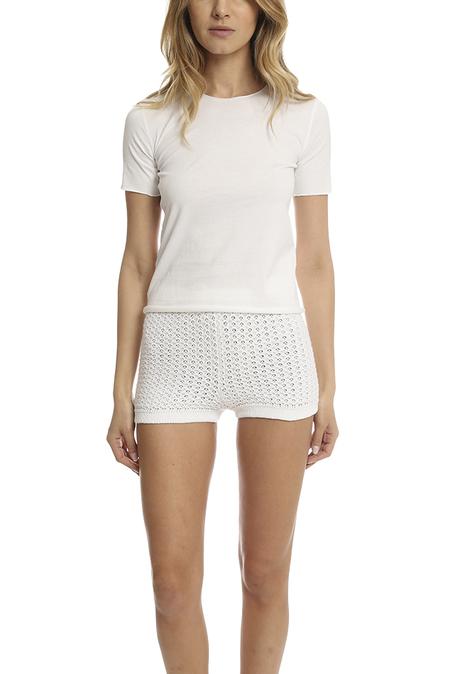 Lucien Pellat-Finet Leaf Short Sleeve Tee Shirt - White