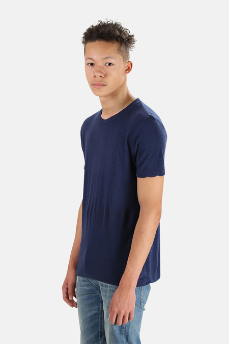 V::Room Crew Cash Tee Shirt - Navy