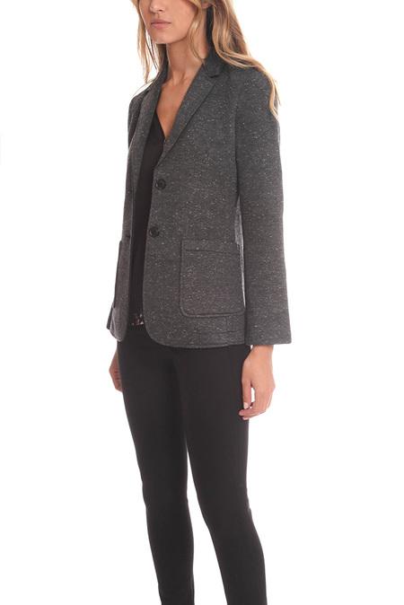ATM Bonded Knit Sports Blazer - Charcoal