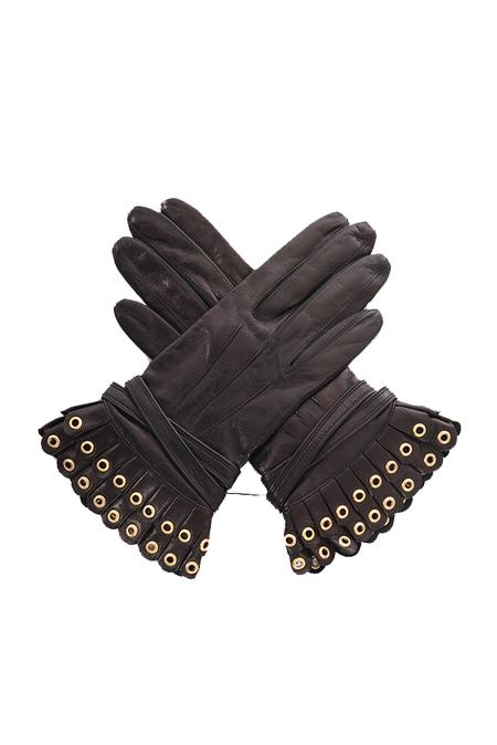 3.1 Phillip Lim Vera Pleated Driving Gloves - Black