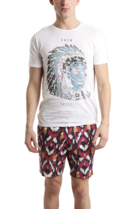 Men's Rxmance Native Crewneck T-Shirt - White