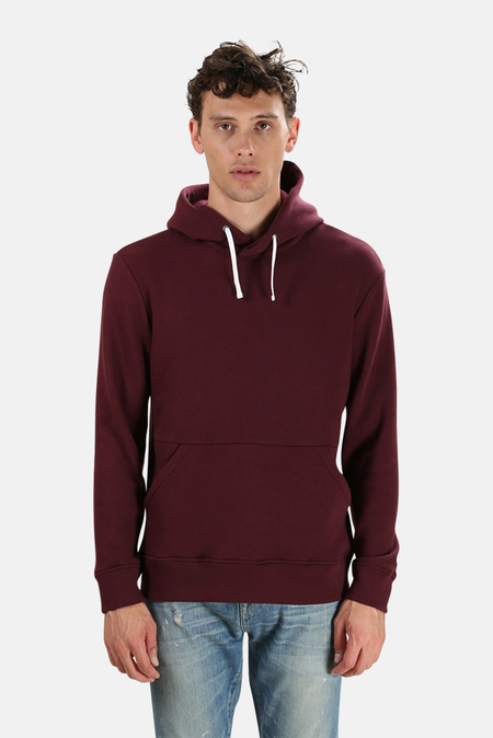 Wheelers.V Ludlow Pullover Hoodie Sweater - Wine