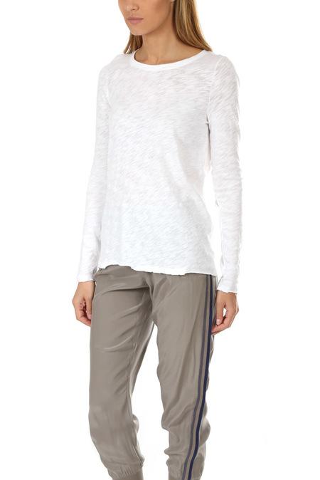 ATM Slub Jersey Long Sleeve Tee Shirt - White