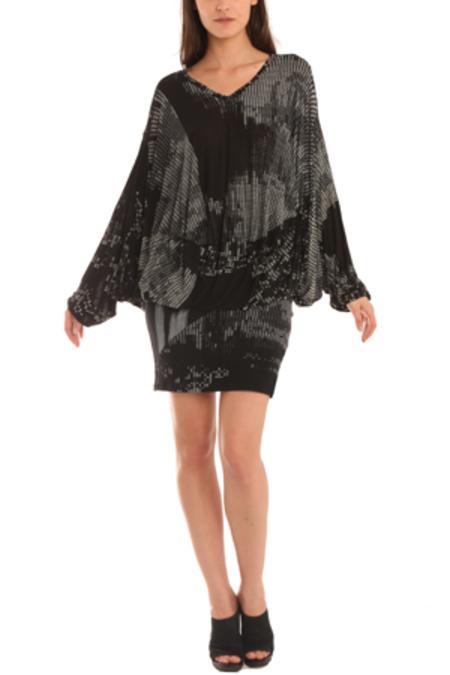Salvor Printed Mini Skirt - Black