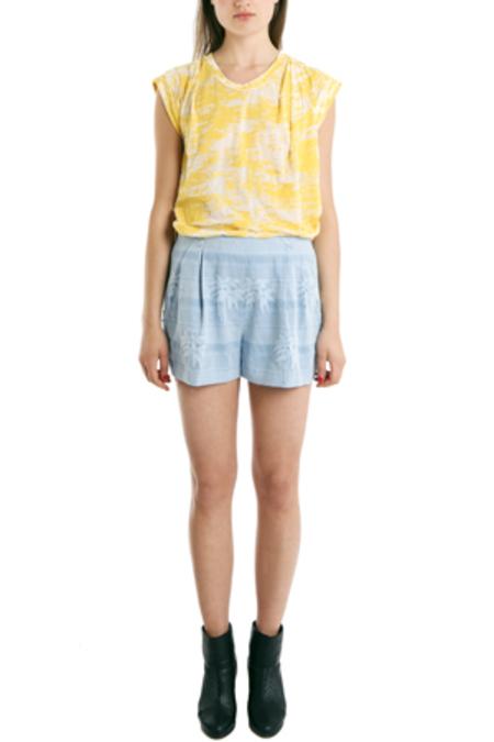 3.1 Phillip Lim Pleated Zip Shorts - Blue