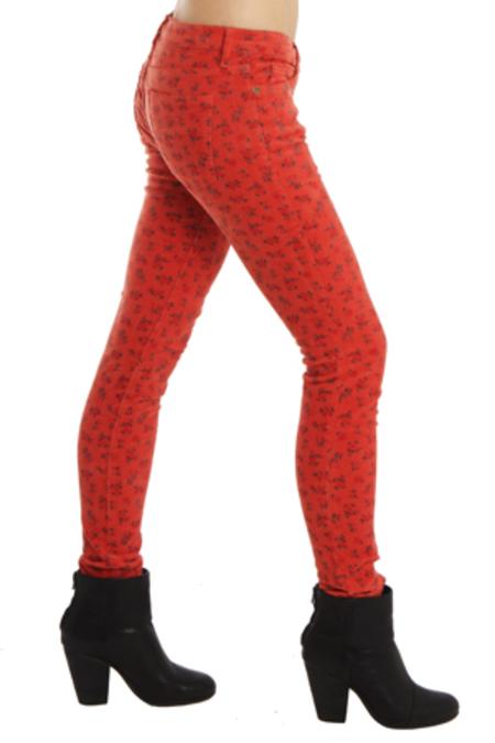 Current Elliott Current/Elliott Ankle Skinny Jean - Poppy Ditsy