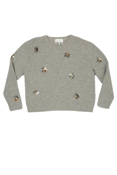 kids 3.1 Phillip Lim Kids Pullover Robot Bug Sweater - Grey