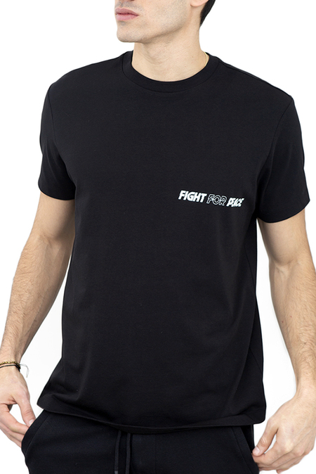 Diplomacy Fight For Peace Graphic T-Shirt - Black