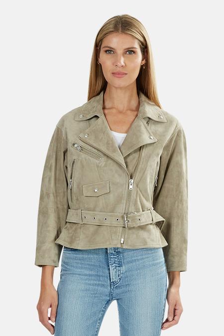 IRO Tigao Leather Jacket - Olive