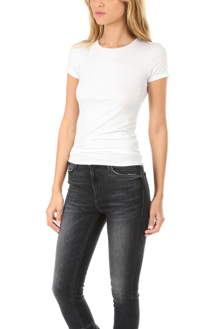 Majestic Filatures Soft Touch Metallic Classic T-Shirt - Silver