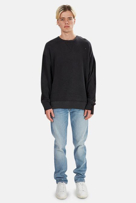 R13 Two Tone Seamed Sweatshirt Sweater - Black