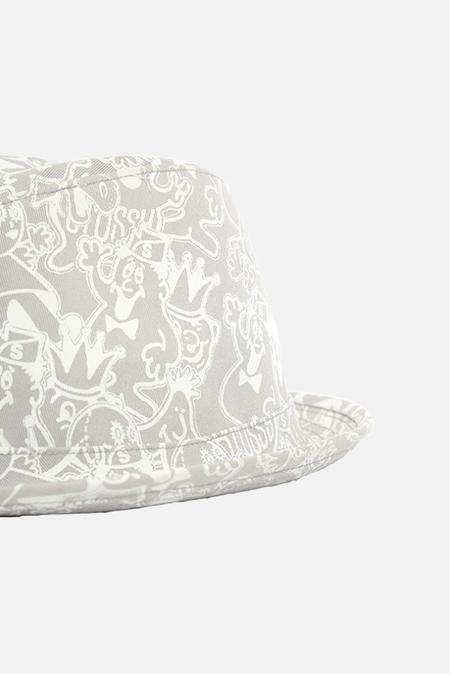 Stussy Fedora Hat - light Grey