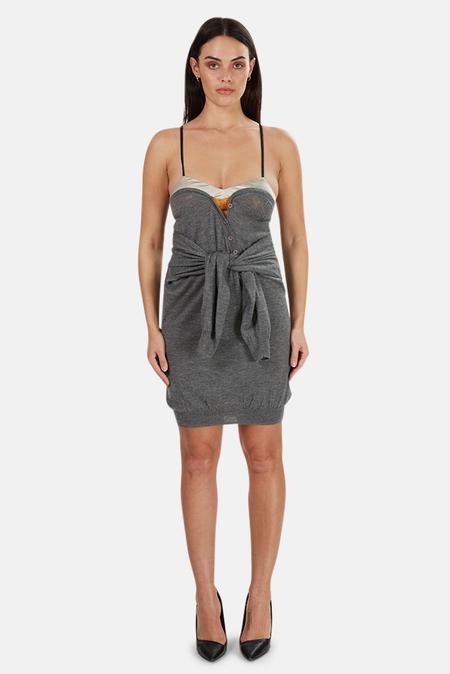 3.1 Phillip Lim Bralet Sweater Dress - Grey