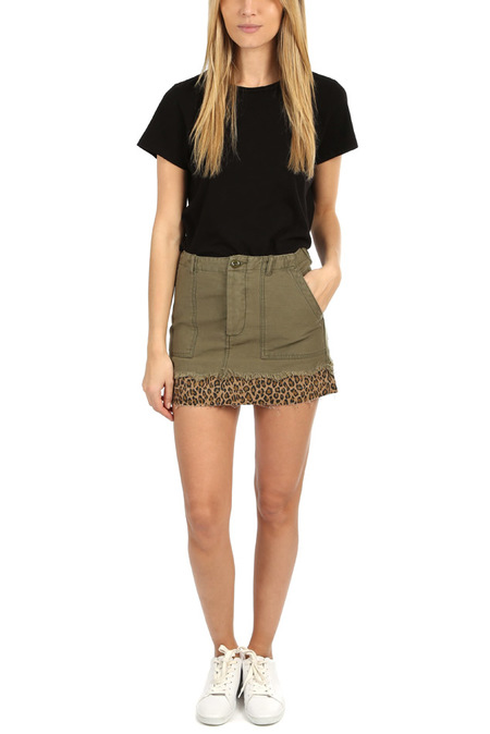 R13 Utility Camp Skirt - Fatigue Olive