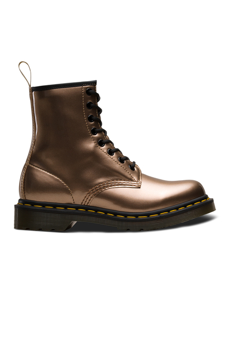 Dr. Martens Vegan 1460 Chrome Metallic Boot - Rose Gold