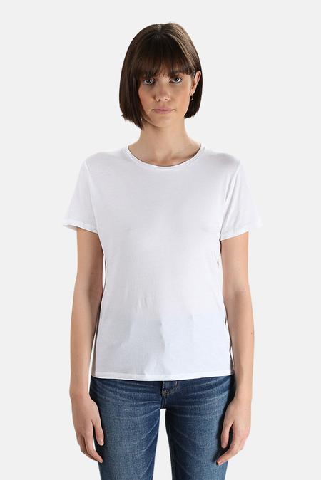 Majestic Filatures Silk Touch Crew T-Shirt - Blanc